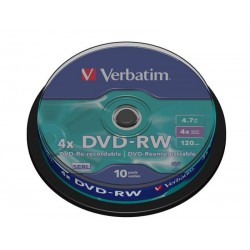 Verbatim DVD-RW ReWritable 4x 4.7GB Bobina 10 Unds